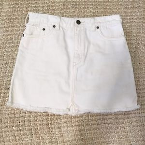 Free People White Denim Skirt, Size 2